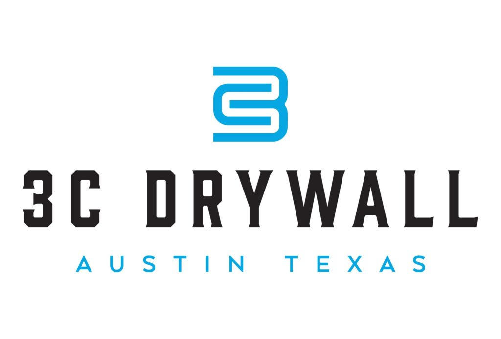 3c drywall construction logo design by left hand design in austin texas