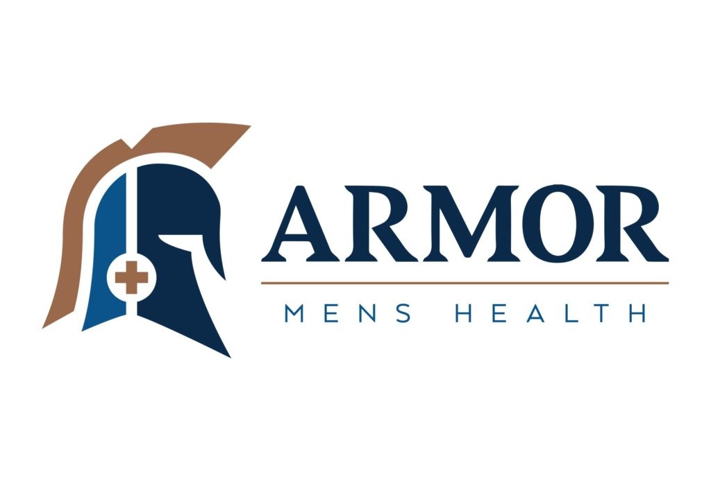 armor mens health logo design by left hand design in austin texas