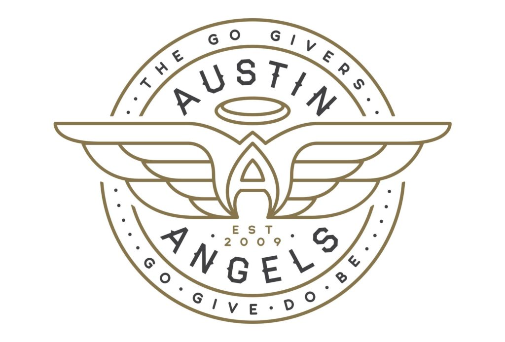 austin angels nonprofit logo design by left hand design in austin texas