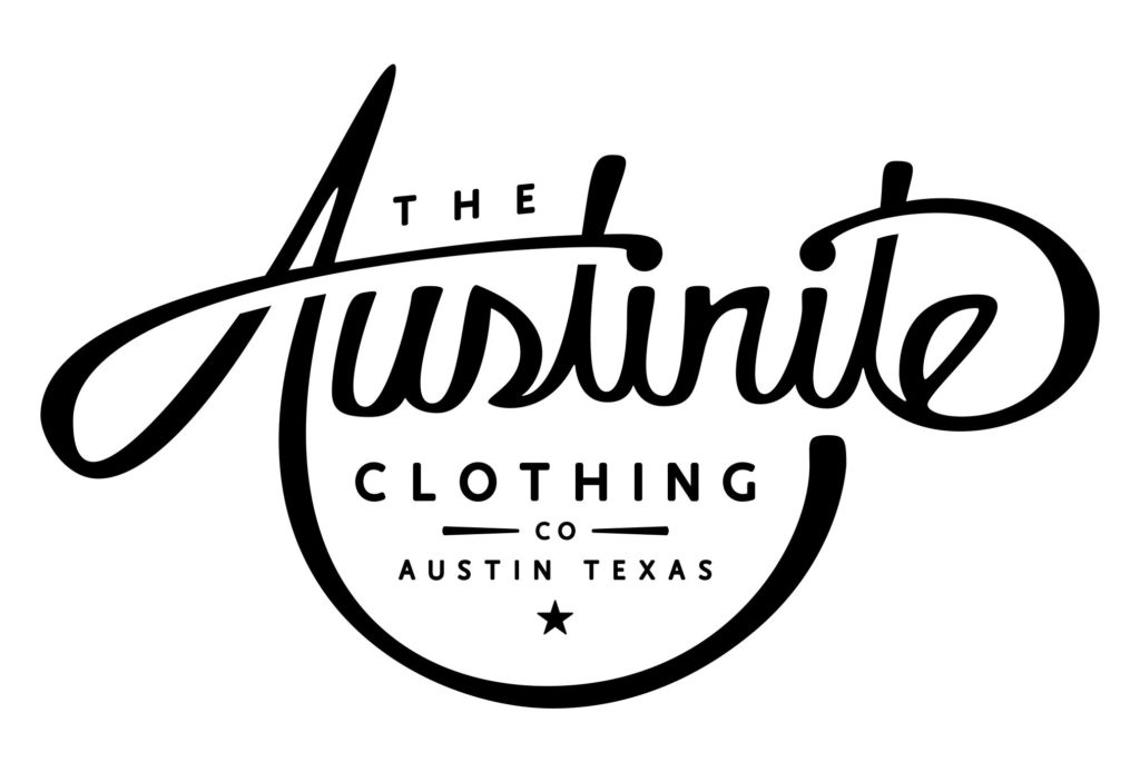 austinite clothing logo design by left hand design in austin texas