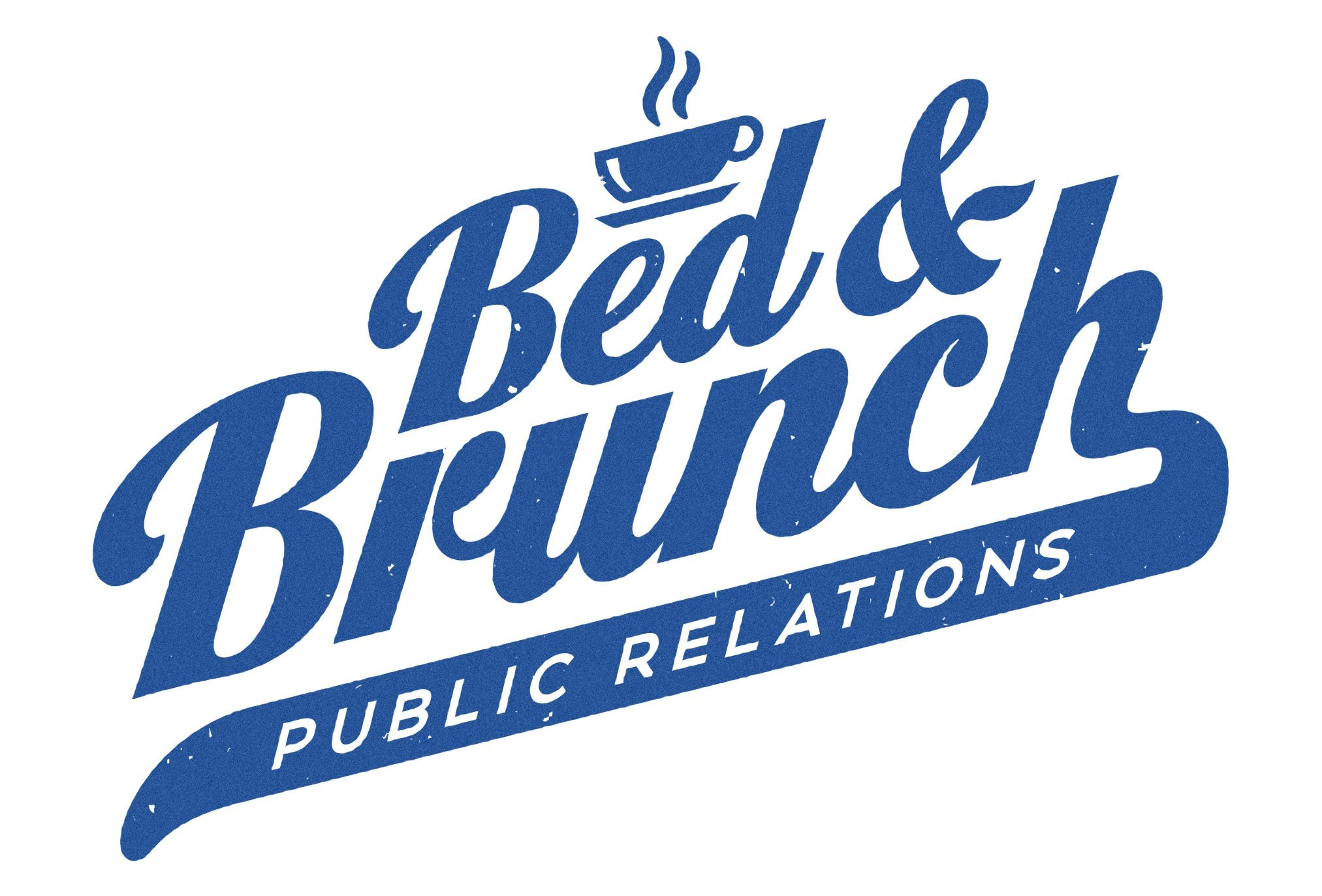 bed & brunch pr new york logo design by left hand design