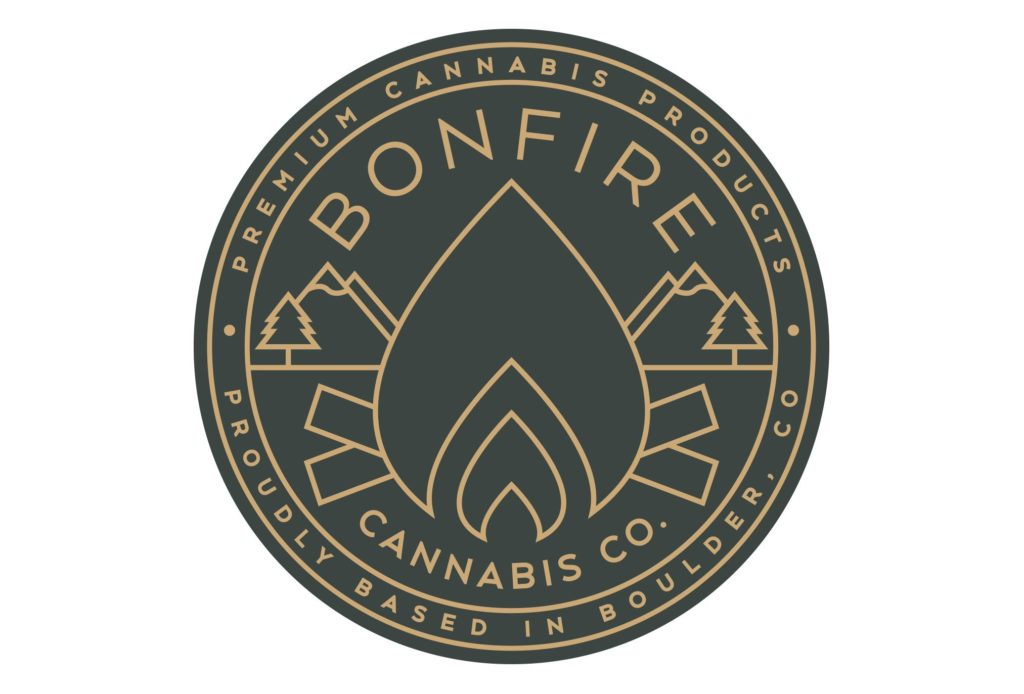 bonfire cannabis logo design by left hand design in austin texas