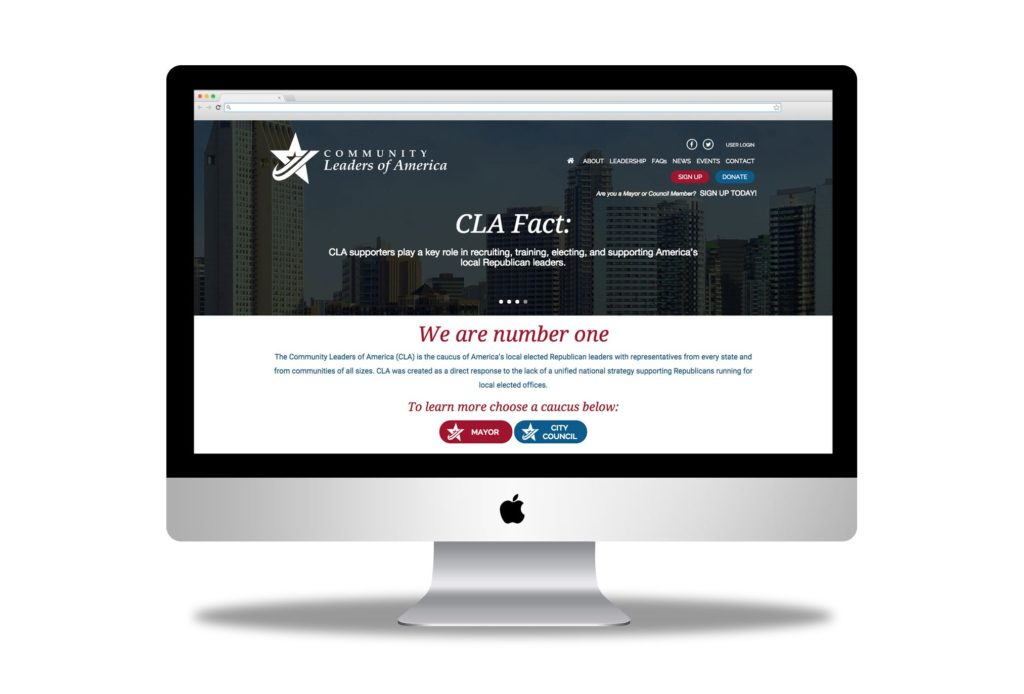 community leaders of america website design by left hand design in austin texas