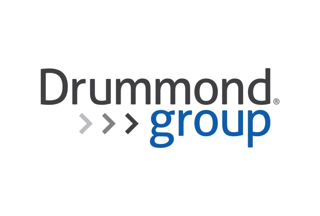drumond group corporate logo design by left hand design in austin texas