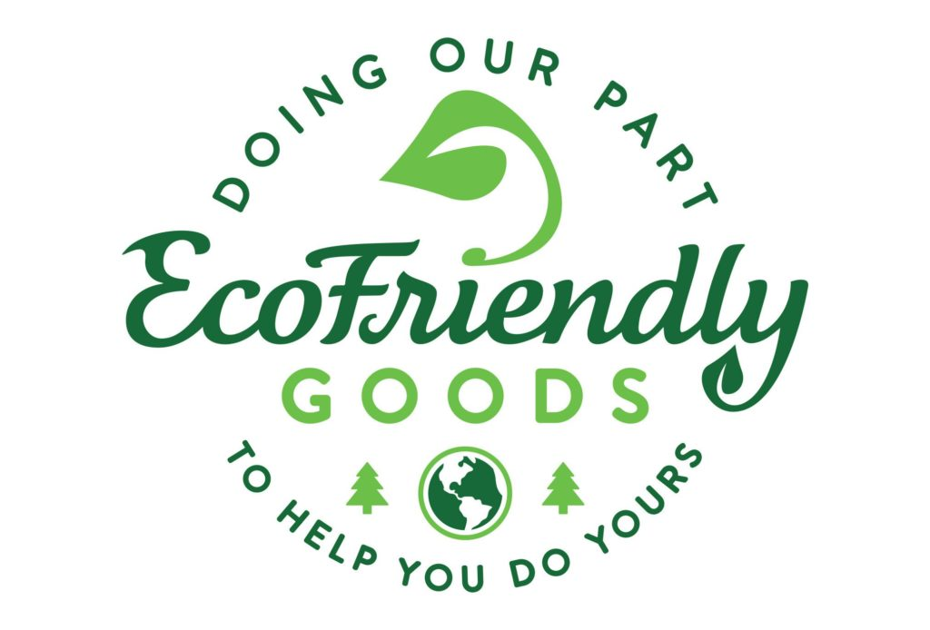 ecofriendly goods organic logo design by left hand design in austin texas