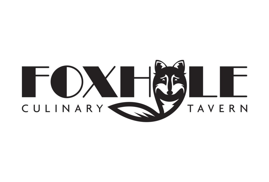 foxhole restaurant logo design by left hand design in austin texas