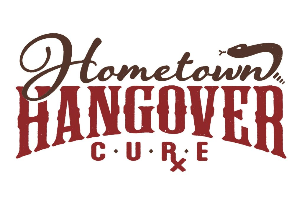 hometown hangover logo design by left hand design in austin texas beau morrow