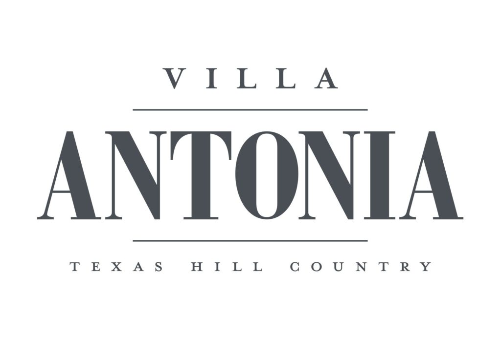 villa antonia wedding venue logo design by left hand design in austin texas beau morrow