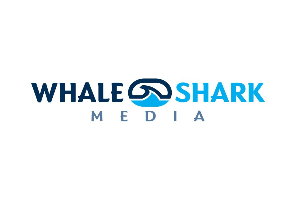 whale shark media logo design by left hand design in austin texas beau morrow