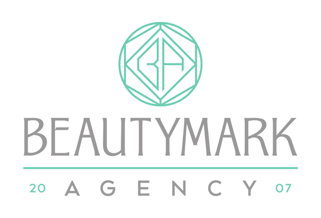 beautymark agency salon logo design in austin texas by beau morrow for left hand design
