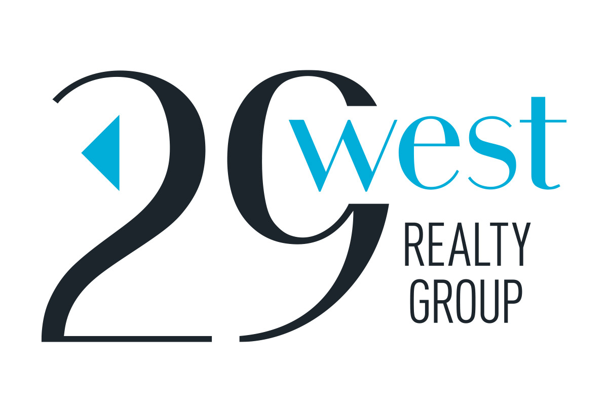 29 west realty group logo design in austin texas by beau morrow for left hand design