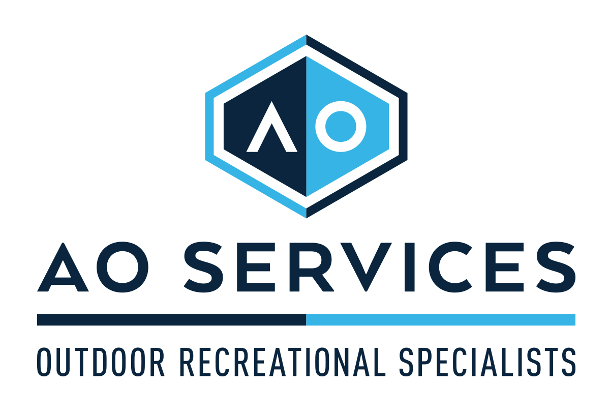 AO Services construction logo design by left hand design in austin texas