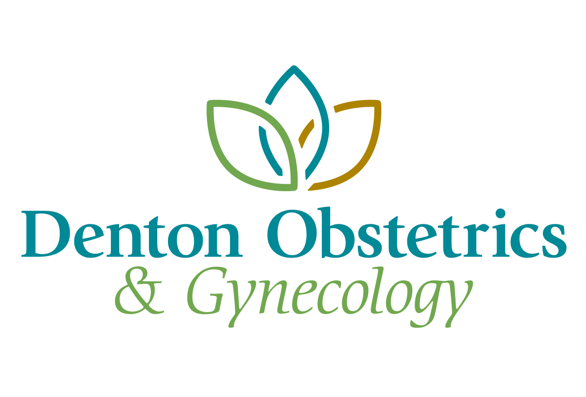 denton obgyn logo design by left hand design in austin texas