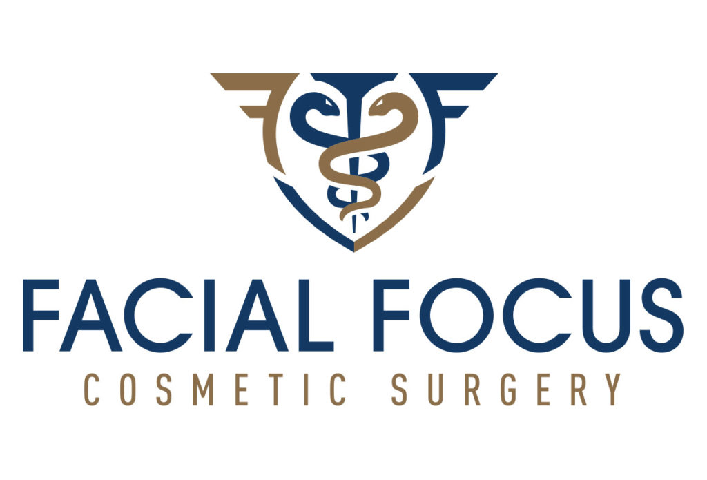 facial focus cosmetic surgery logo design in austin texas by beau morrow for left hand design