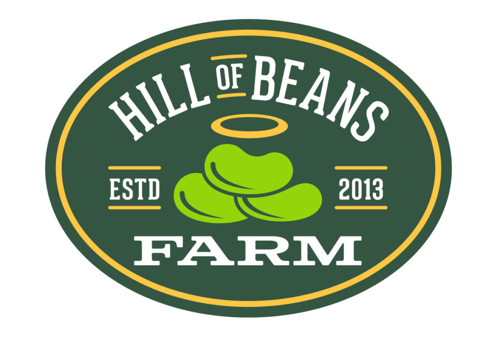 hill of beans farm logo design in austin texas by beau morrow for left hand design