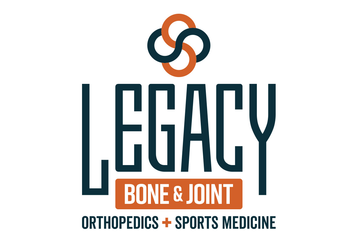 legacy bone and joint orthopedic logo design in austin texas by beau morrow for left hand design