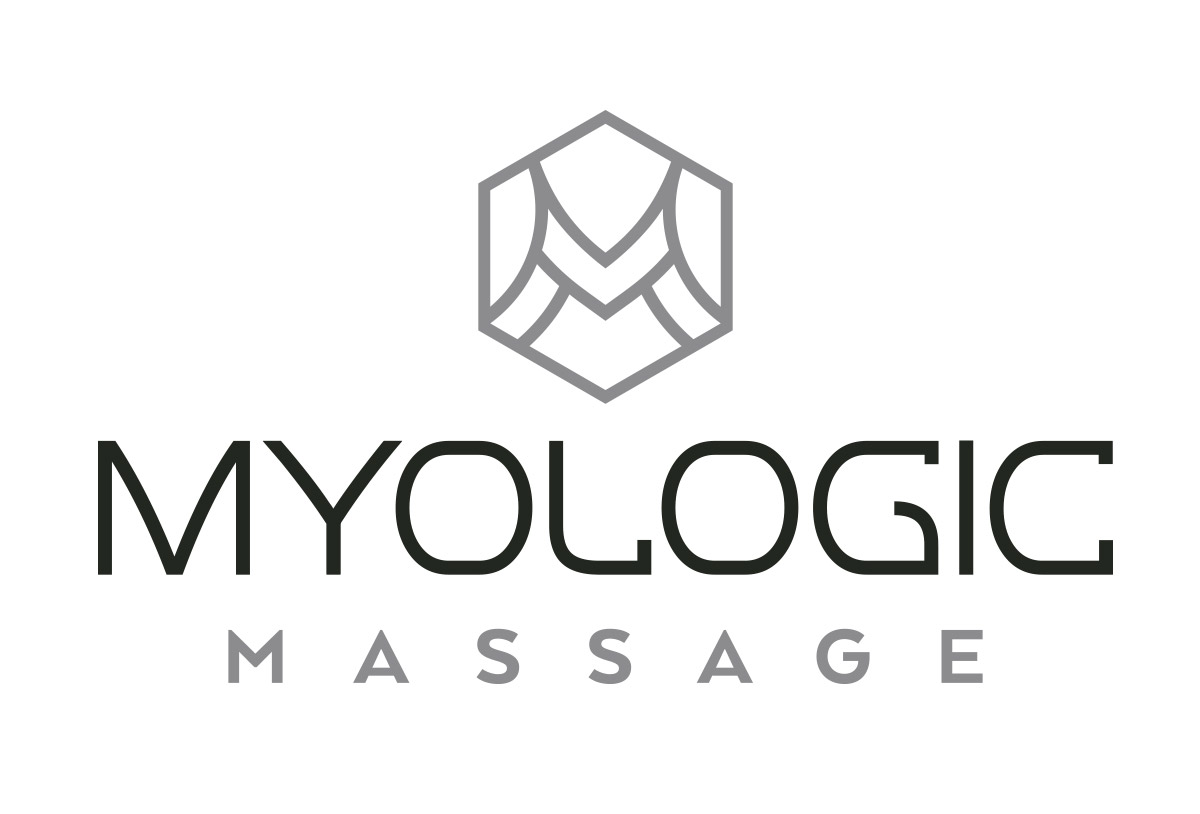myologic massage logo design in austin texas by beau morrow for left hand design