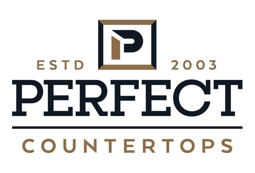 perfect countertops logo design in austin texas by beau morrow for left hand design