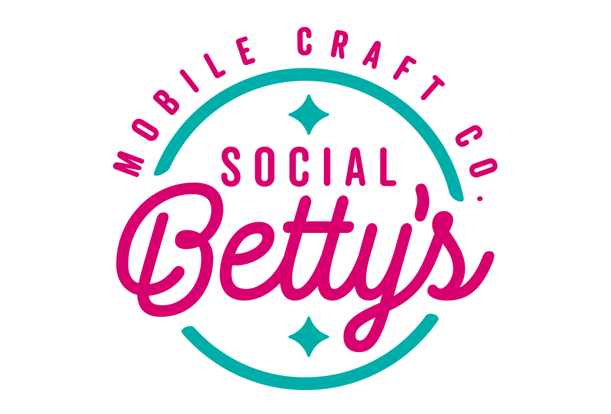 social bettys craft maker logo design in austin texas by beau morrow for left hand design